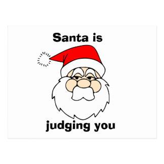 Santa is judging you postcard