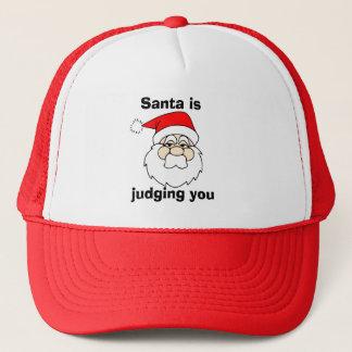 Santa is judging you trucker hat