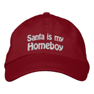 Santa Is My Homeboy Embroidered Hat