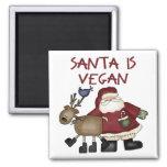 Santa Is Vegan Fridge Magnet