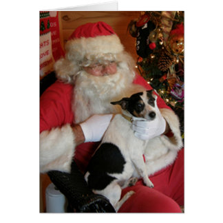 Santa & Jack Russell Greeting Card