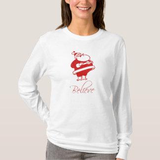 Santa Jolly Laughing (believe) T-Shirt
