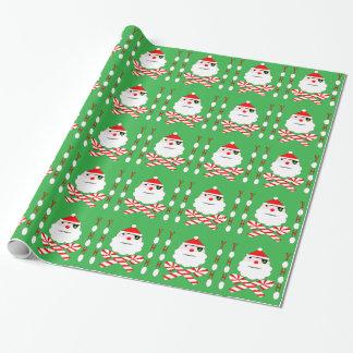 santa jolly roger wrapping paper