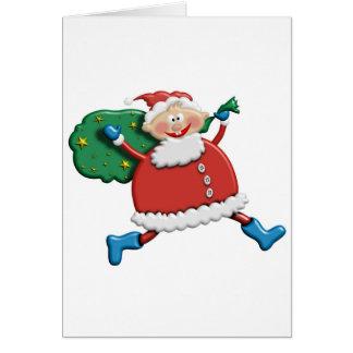 Santa Joy Design Greeting Card