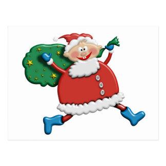 Santa Joy Design Postcard