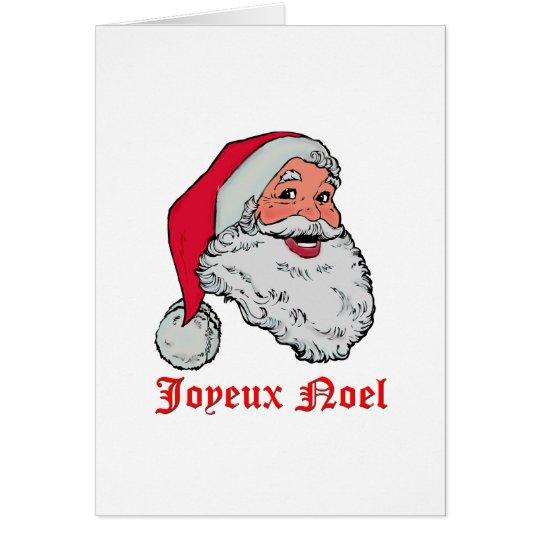 Santa Joyeux Noel Card