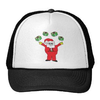 Santa Juggling Presents Merchandise Trucker Hat