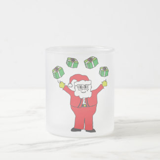 Santa Juggling Presents Merchandise Coffee Mugs