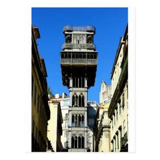 Santa Justa Lift Lisbon Portugal Cartao Postal