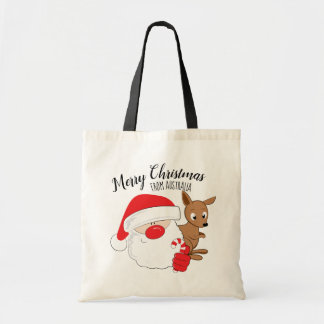 Santa & Kangaroo Tote Bag