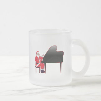 Santa Keys Frosted Glass Coffee Mug