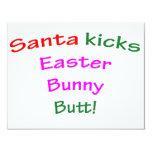 Santa Kicks Easter Bunny Butt! Personalised Invitation
