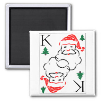Santa - King of Trees Fridge Magnets