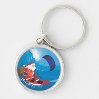 Santa Kitesurf Keychain