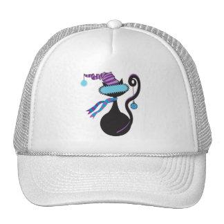 Santa Kitty Blue Hat