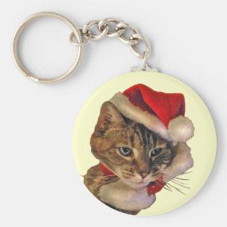 Santa Kitty Keychains