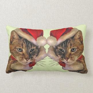Santa Kitty Lumbar Pillow