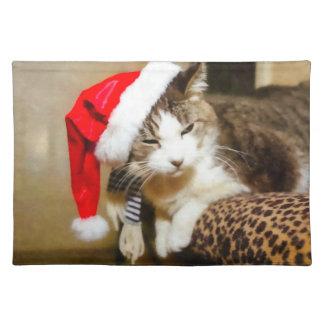 Santa Kitty Painterly Placemat