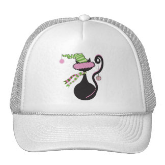 Santa Kitty Pink Hat