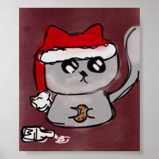 Santa Kitty Poster