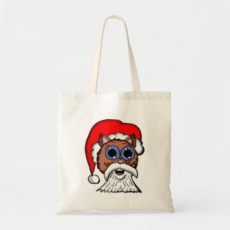 Santa Kitty Tote Bag