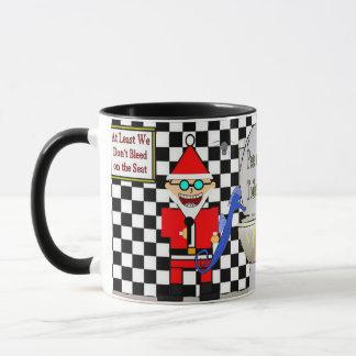 Santa Klaus Pee on the Toilet Seat Mug