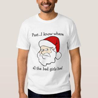 Santa Knows Where The Bad Girls Live Shirts