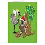 Santa koala card