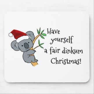 Santa Koala - Fair Dinkum Mouse Pad