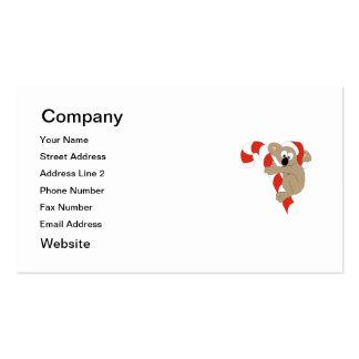 Santa Koala Pack Of Standard Business Cards