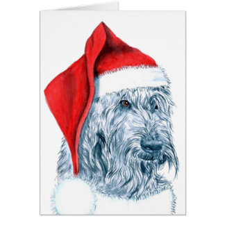 Santa Labradoodle Greeting Cards