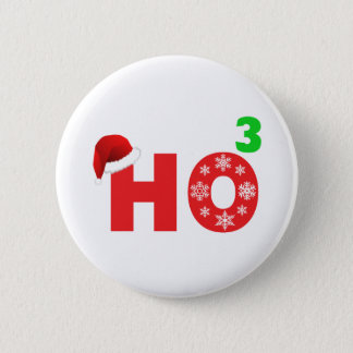 santa laughs at christmas 6 cm round badge