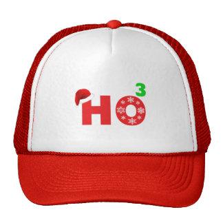 santa laughs at christmas cap
