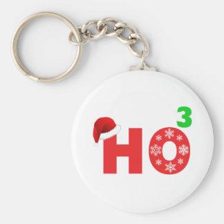 santa laughs at christmas key ring