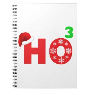 santa laughs at christmas notebook