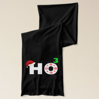 Santa laughs at Christmas Scarf