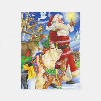 Santa Leads the Way Blanket