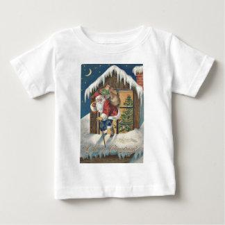Santa Leaving House Christmas Tree T Shirt