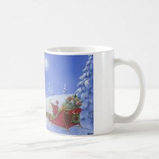 Santa Lights The Way Basic White Mug