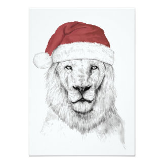 Santa lion II 13 Cm X 18 Cm Invitation Card