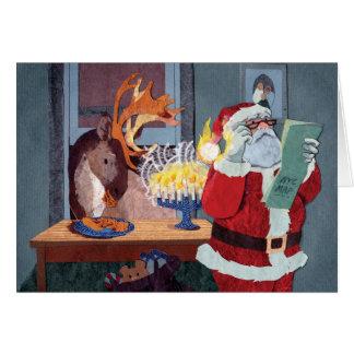 Santa Lost in NYC Interfaith Holiday Card