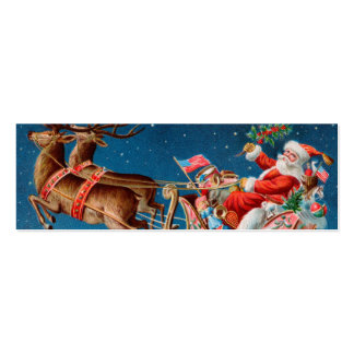 Santa LOVE Note or Gift tag to Customize Pack Of Skinny Business Cards
