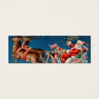 Santa LOVE Note or Gift tag to Customize Mini Business Card