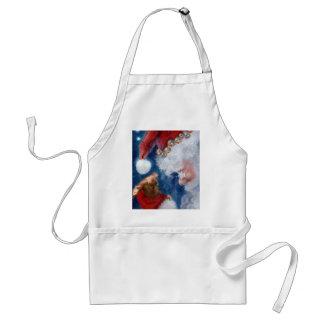 Santa Loves Animals Christmas apron