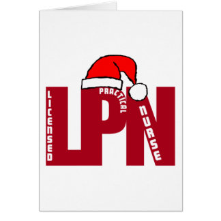 Santa LPN Big RED LICENSED PRACTICAL NURSE Greeting Card