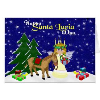 Santa Lucia Blank Note Card