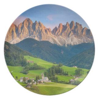 Santa Maddelena and The Dolomites in Val di Funes Plate