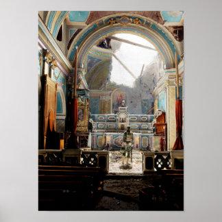 Santa Maria degli Angeli, Acerno, Italy 1943 Poster