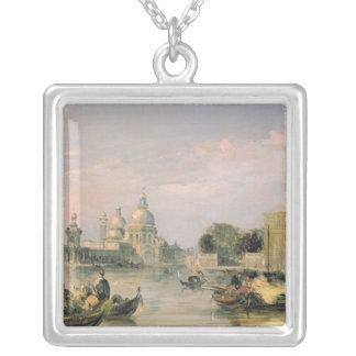 Santa Maria della Salute, Venice, 19th century Silver Plated Necklace