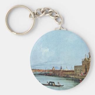 Santa Maria Della Salute, Venice. By Canaletto Basic Round Button Key Ring